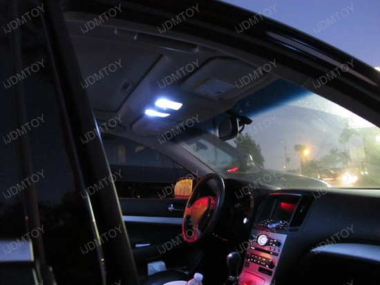 Infiniti - G35 - car - interior - led - lights - 2